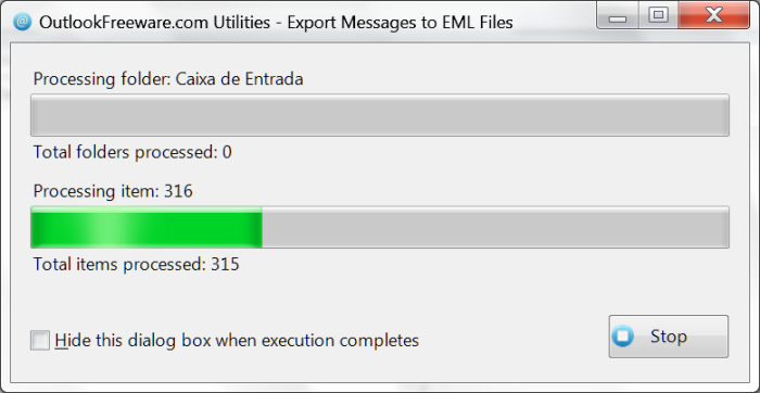 Export Messages to EML Files