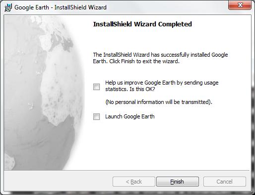 UI Google Earth MSI