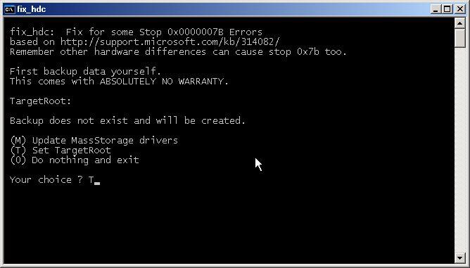 controlador de armazenamento em massa windows xp